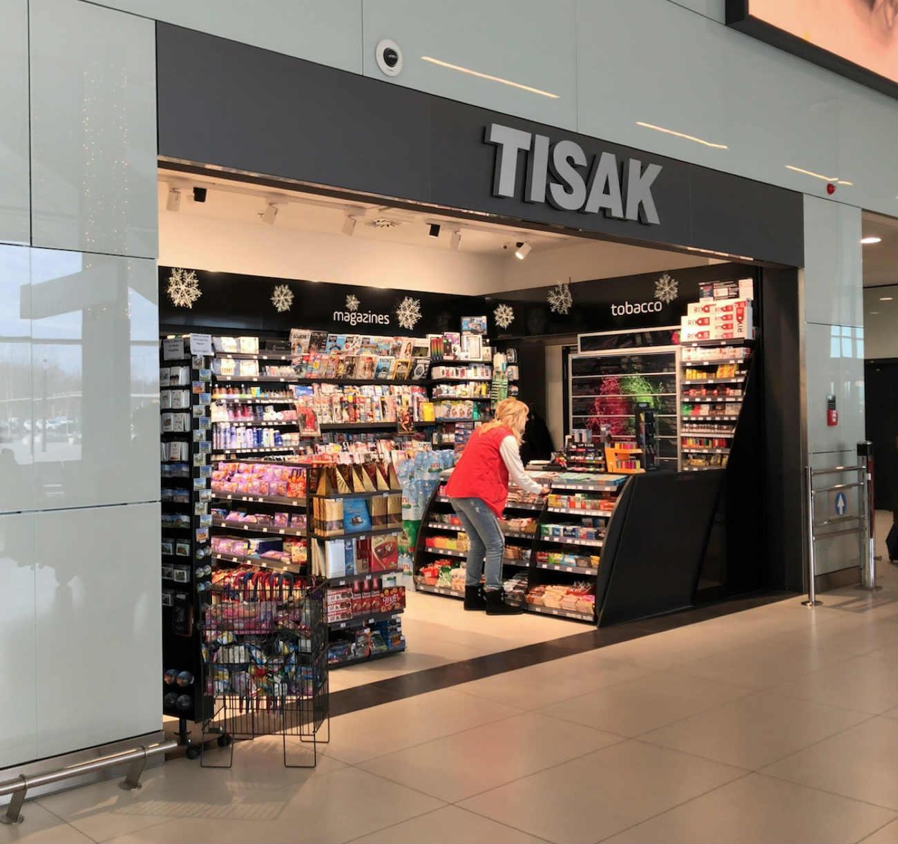 ザグレブ空港内のTISAK