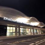 夜のザグレブ空港