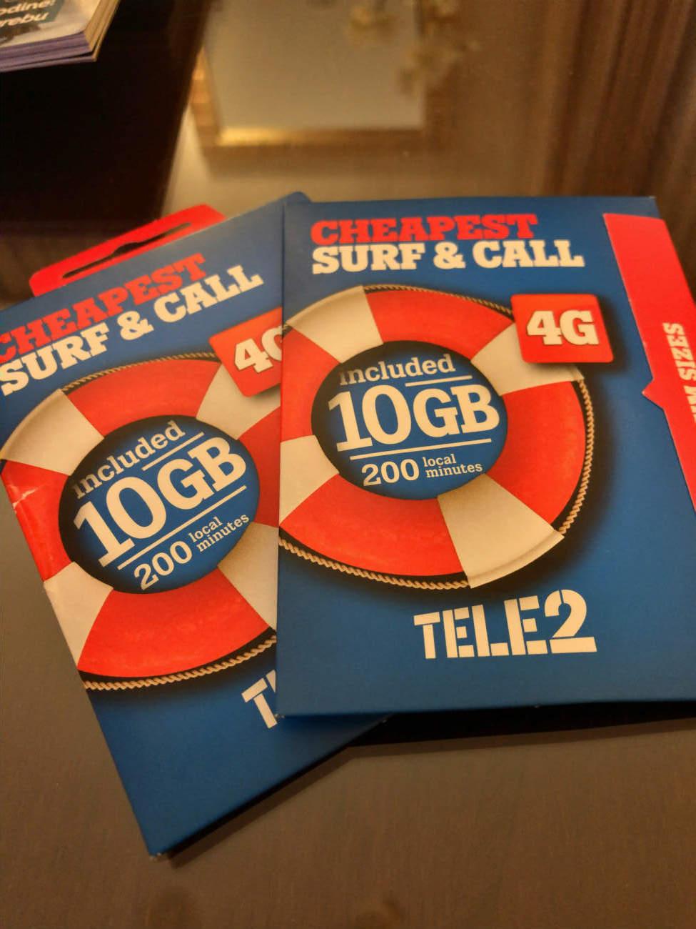 TELE2のSIMカード