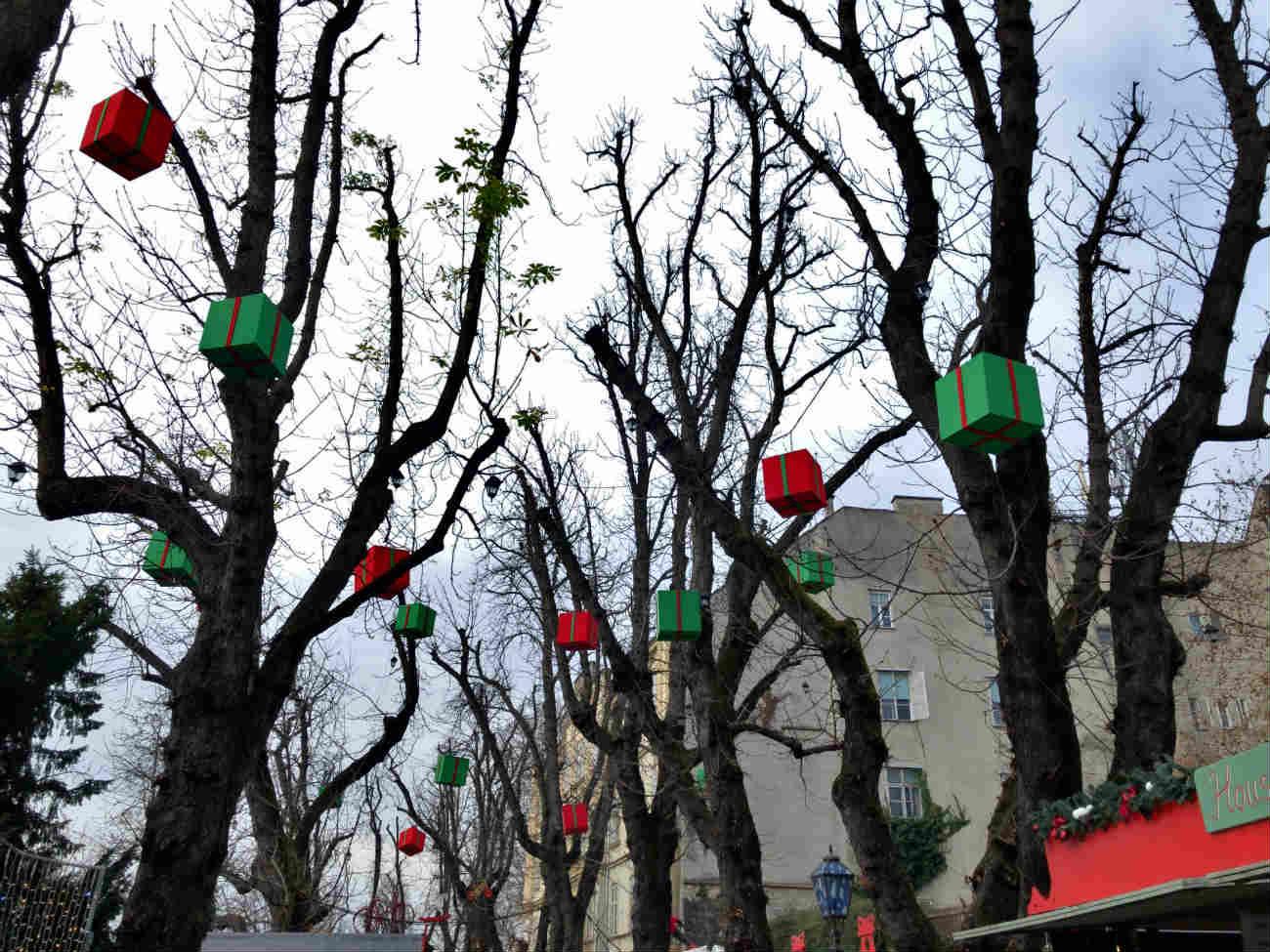 冬のザグレブ市内