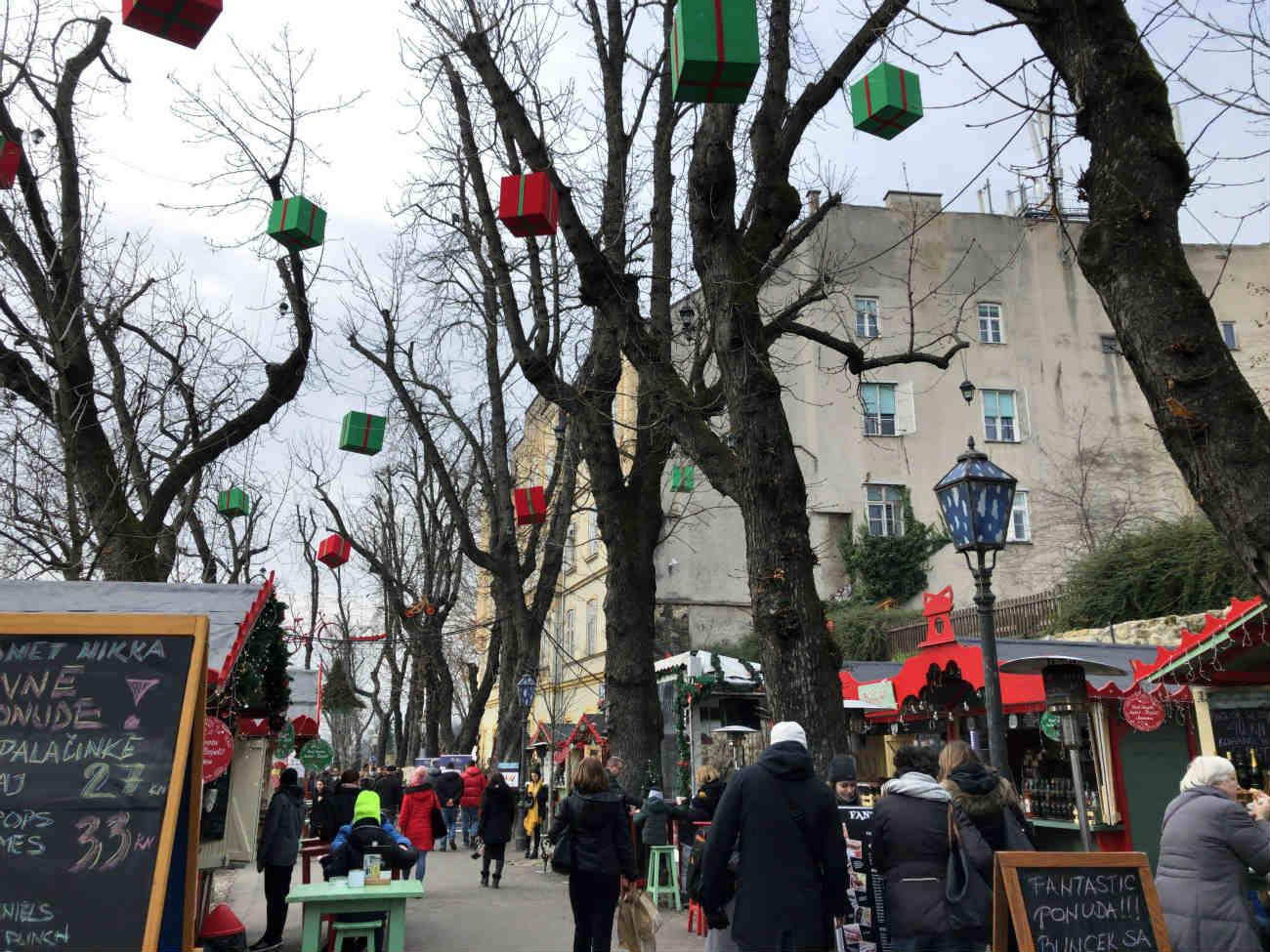 ザグレブのクリスマスマーケット