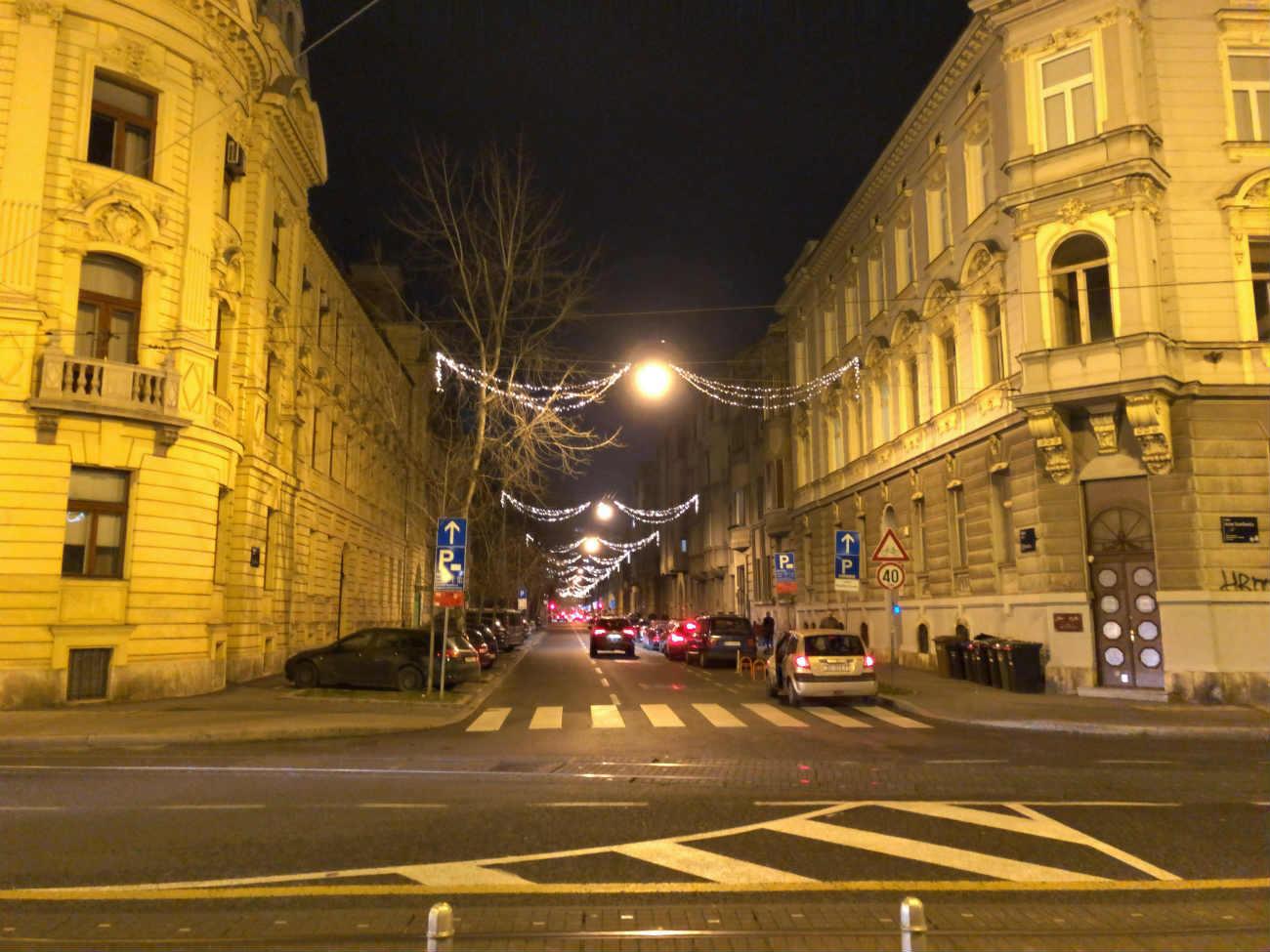 冬のザグレブ市内の様子