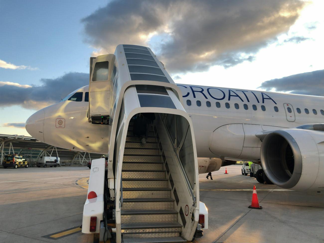クロアチア航空の飛行機