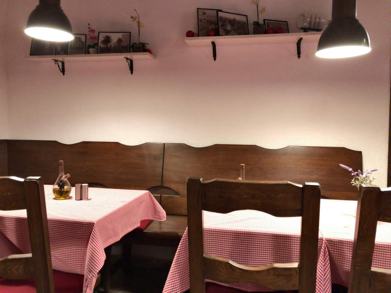 ドブロブニクにあるレストランの店内