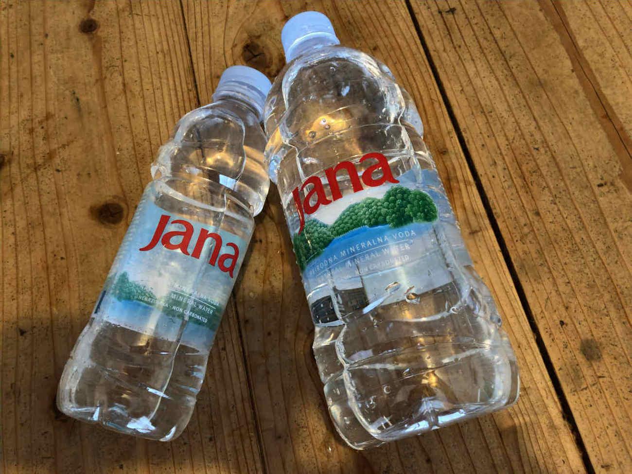 クロアチアのミネラルウォーターのJana